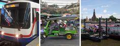 Unser Verkehrsguide für Bangkok. Von BTS, Tuk Tuk, Taxi und Bus bis hin zum Chao Phraya Express Boat. Alle Infos, Zeiten & Preise in einer Übersicht.