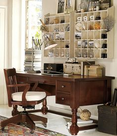 love the cubby cabinets and how they're decorated