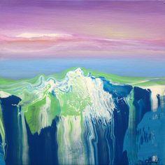 """Saatchi Art Artist: Jacob Jugashvili; Oil 2012 Painting """"Green And Blue III"""""""