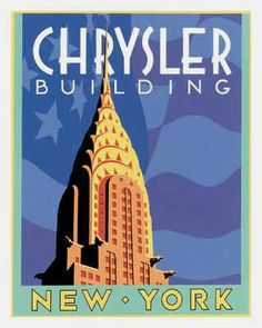 My fav. Building in NYC- a Poster