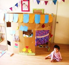 (2ページ目) ダンボールハウスを子供と一緒に手作りしちゃおう!作り方をご紹介♡ [ママリ]