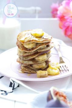 Placuszki bananowe (banana pancakes) bez cukru i mleka – pomysł na śniadanie, od którego się uzależnisz. | Lawendowy Dom