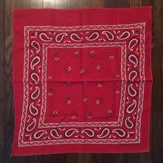 Vintage Guaranteed Fast Color Red Bandana RN 14193 | eBay