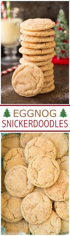 Eggnog Snickerdoodles | Cooking Classy