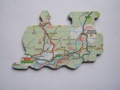 Ffestiniog Railway Wales Snowdonia map magnet by MooseintheMint, £4.00