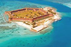 Dry Tortugas/Ft. Jefferson.  My Husband and I camped on this Island.  We snorkeled around the entire island many times and there were only a few other couples that stayed the night on the island with us.  We were 70 miles off the Coast of Key West.  Truly a great time.  I'd recommend this adventure to anyone!!!