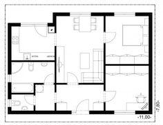 MS 65 I Půdorys Floor Plans, House, Floor Plan Drawing, House Floor Plans