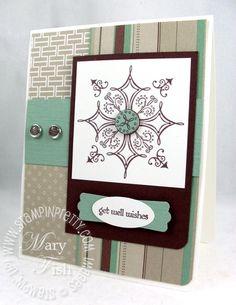 Stampin pretty serene snowflakes masculine card