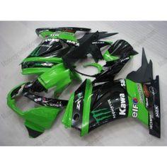 Kawasaki NINJA EX250 2007-2009 Injection ABS Fairing - Monster - Green/Black | $659.00