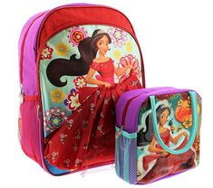 4259032a960 Elena of Avalor 16 inch Backpack and Lunch Box Set Review Lunch Box Set
