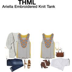 ariella embroidered knit tank - THML Ariella Embroidered Knit Tank.