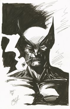 HeroChan — Wolverine Ink Sketch Created by Ken Hunt Logan Wolverine, Wolverine Comics, Airbrush Art, Xmen, Marvel Heroes, Comic Character, Character Inspiration, Comic Art, Batman