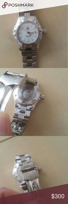 Tag Heuer Aquaracer Watch Water resistant to 300m Has date on face Sapphire Crystal  In great condition I replaced the battery just a few months ago  Diameter is about 1 inch across Price is firm Tag Heuer Accessories Watches