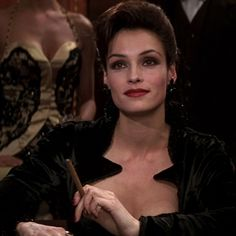 If you are looking for a sexy Bond Girl costume a great choice is making your own Xenia Onatopp costume from James Bond Goldeneye Movie Costumes, Girl Costumes, Bond Girl Dresses, Xenia Onatopp, Deep Red Lipsticks, Lipstick Style, Famke Janssen, Female Villains, Bond Girls