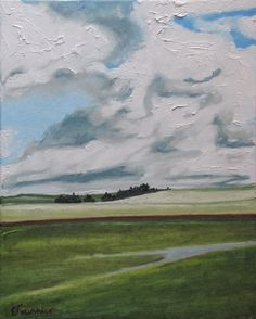 Art Original Oil Painting Cloud Sky Fournier by Fournierpainter,