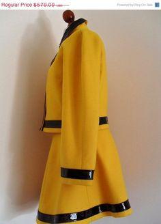 Canary COURREGES  Yellow Mod  Wool And Vinyl  by thingsofsplendor, $457.41