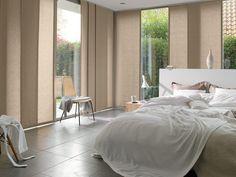 Sistema de Paneles para sistemas de ventana en habitacion, tambien conocidos como panel japones por su similitud con los biombos traslucidos usados frecuentemente en Japon.