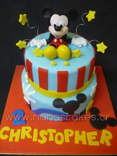 mickey mouse cakes | Queque de Mickey Mouse en 3D para Cumpleaños - queques nana's cakes ...