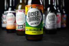 Wicked Barrel Brewery - Hillbilly Saison - Wicked Barrel is craft brewery founded in 2017 in Romania, where they are considered one of the bes - Beer Packaging, Beverage Packaging, Best Craft Beers, Beer Brands, Article Design, Hillbilly, Packaging Design Inspiration, Brewery, Beer Bottle