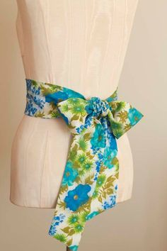 Obi Belt in Turquoise Royal Blue Olive Lime Green and by ccdoodle