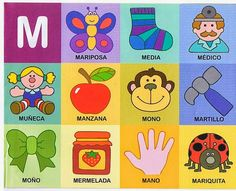 The teacher and his PT class: Phonological awareness Preschool Spanish, Spanish Activities, Alphabet Activities, Toddler Activities, Activities For Kids, Spanish Language Learning, Speech And Language, Learning Letters, Kids Learning