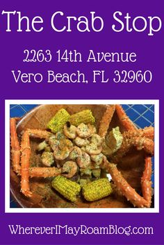 The Crab Stop is where to go in for the best seafood in town. Splurge for the bowl that includes crab legs, shrimp, corn, potatoes, and sausage in a finger-licking good seasoned butter. Drinking Around The World, Travel Around The World, Travel Usa, Travel Tips, Canada Travel, Fresh Seafood, Vero Beach, Best Dishes, United States Travel