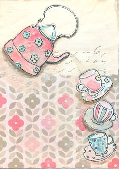 #vintageteapot drawing