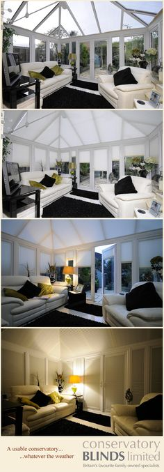 Conservatory Blinds can make your conservatory usable throughout the year…
