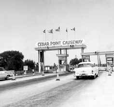 The Cedar Point Causeway (Photo via Cleveland Memory Project) Cleveland Scene, Cleveland Ohio, Cleveland Rocks, Columbus Ohio, Cincinnati, Sandusky Ohio, Akron Ohio, Cedar Point Ohio, Marblehead Ohio