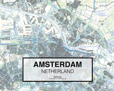 Amsterdam Netherland. Download CAD Map city in dwg ready to use in Autocad.  www.mapacad.com