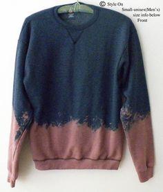 Blue Sweatshirt Blue crewneck sweatshirt dip dyed Crewneck