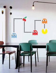 Adesivo de parede PacMan Atari.