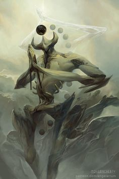 A surreal series of fantasy paintings based off the eleven aspects of the…