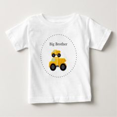 Big Brother Dump Trucks Toddler T-Shirt - baby gifts child new born gift idea diy cyo special unique design