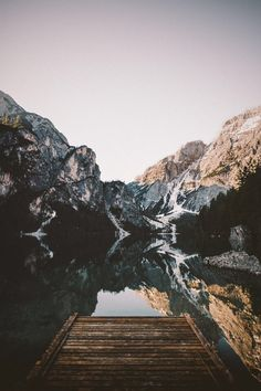 Mountain + lake