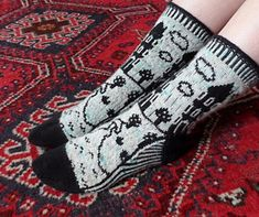 Ravelry: Moomin Valley Socks pattern by Suzi Ashworth Moomin Valley, Tove Jansson, Ravelry, Knitting Patterns, Knit Crochet, Weaving, Socks, Quilts, Embroidery