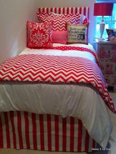Custom dorm bedding packages from Cute dorm room bedding sets complete with throw pillows, duvet cover, bed skirt, headboard and more. Each dorm xl bedding set is a full dorm room look! College Bedding Sets, Twin Xl Bedding Sets, Teen Girl Bedding, Dorm Room Bedding, Pink Bedding, Chevron Bedding, Luxury Bedding, Comforter, Girls Bedroom