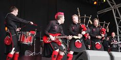 Red Hot Chilli Pipers playing onstage