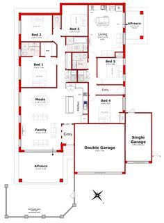 Discover our entire range of Dual Occupancy House Plans designed for the Perth metro area . From Single storey studio's to custom granny flats attached to the main home. We offer Double Storey and house behind house special purpose duplex style designs. Free House Plans, Sims House Plans, Best House Plans, Duplex Floor Plans, House Floor Plans, Home Design Plans, Plan Design, Duplex Design, House Design