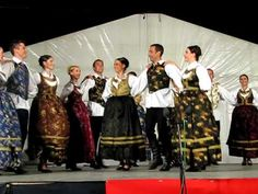 Lado - National Folk Dance Ensemble of Croatia: Bunjevacko Momacko Kolo part 1 Folk Costume, Costumes, Folk Dance, Candle Stand, Folklore, Dancing, Concert, Diy, Croatia