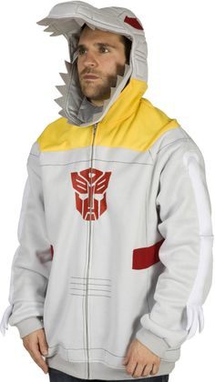 Grimlock Hoodie! I don't know where or when I would wear this, but I would be so awesome.
