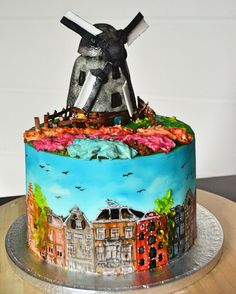 Amsterdam Cake / hand painting / by Kolva's Bakery