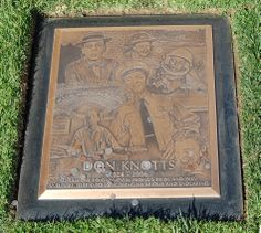 Don Knotts grave at Westwood Village Memorial Park Cemetery, Los Angeles