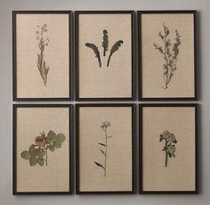 Hand-Pressed Botanicals on Linen Ivory: Gardenista