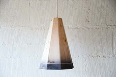 Black Pendant Lamp Shade Handmade in Recycled by FactoryTwentyOne, £64.99