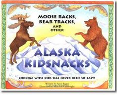 Moose Racks, Bear Tracks, and Other Alaska Kid Snacks Children's Cook Book by Alice Bugni Illustrated by Shannon Cartwright This assortment of 25 kid-tested and kid-approved snack recipes is designed for young and enthusiastic cooks who view flour dust storms as a sign of progress and sticky fingers as a measure of success! Kids will delight in the colorful illustrations of Alaska scenes by Shannon Cartwright and love creating...