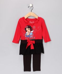 Disney Princess Snow White Red Tunic & Leggings - Infant #zulily #zulilyfinds