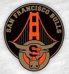 We love this SF Bull logo! #SanFrancisco #SF #SFlove