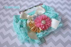 READY to SHIP Lace bloomer set  Gabriella  newborn photography prop, baby shower gift by MudpiesandPigtails, $21.95