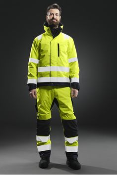 Check out our High-Vis Collection. Construction Clothing, Hi Vis Workwear, Snickers Workwear, Orange Vests, Firemen, Fashion Men, Work Wear, Sick, Safety